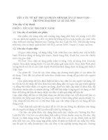 YÊU CẦU VỀ KỸ THUẬT PHẦN MỀM QUẢN LÝ ĐÀO TẠO – TRƯỜNG ĐẠI HỌC LUẬT HÀ NỘI