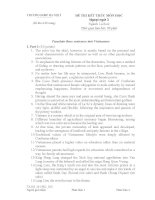 Tieng anh (su toan) học kỳ 1 (2014 2015)   đề thi có đáp án ĐHSP hà nội