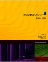 Rosetta stone american english level 4   student workbook