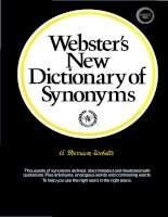 Websters new dictionary of synonyms