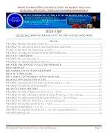 Tổng hợp bài tập phần khảo sát hàm số ôn thi đại học 2016