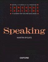 Speaking language teaching a scheme for teacher education
