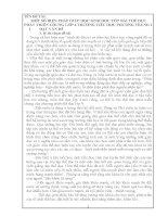 MỘT SỐ BIỆN PHÁP GIÚP HỌC SINH HỌC TỐT BÀI THỂ DỤC PHÁT TRIỂN CHUNG LỚP 4 TRƯỜNG TIỂU HỌC PHƯƠNG TRUNG I
