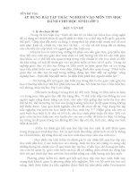ÁP DỤNG BÀI TẬP TRẮC NGHIỆM VÀO MÔN TIN HỌC DÀNH CHO HỌC SINH LỚP 3