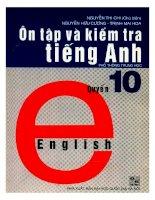 Ôn tập và kiểm tra tiếng anh quyển 10  NXB đại học quốc gia 2002