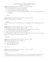 Ngân hàng câu hỏi sinh học lớp 9 (1)