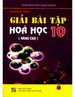 Hướng dẫn giải bài tập hóa học 10 nâng cao  NXB đại học quốc gia 2009
