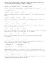 Đề ôn tập chương 1 hóa 11: Trắc nghiệm có đáp án chương Điện ly