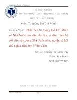 Phân tích tư tưởng Hồ Chí Minh về Nhà Nước của dân, do dân, vì dân. Liên hệ với việc xây dựng Nhà Nước pháp quyền xã hôi chủ nghĩa hiện nay ở Việt Nam.