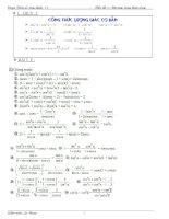 Công thức và bài tập lượng giác lớp 10 đại số 10