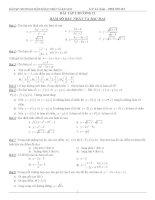 Bài tập chuyên đề hàm số bậc nhất  bậc hai  Đại Số 10