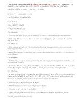 Tham khảo Đề kiểm tra học kì 1 Vật Lý 11 của trường THPT Gia Bình Số 1 2015