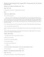 Đề khảo sát chất lượng môn Văn lớp 10 lần 1 trường THPT Văn Quán