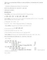 Đề và đáp án đề kiểm tra 1 tiết hình 10 chương 1 năm 2015