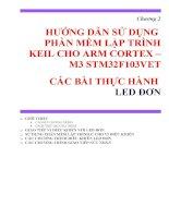 HƯỚNG dẫn sử DỤNG PHẦN mềm lập TRÌNH KEIL CHO ARM CORTEX – m3 STM32F103VET