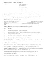 Đề kiểm tra học kì 2 môn Vật lý lớp 9 quận 10 năm học 2014-2015