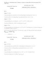 Đề kiểm tra 1 tiết hình học lớp 11 chương 1 có đáp án