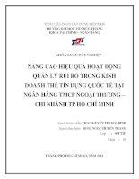 NÂNG CAO HIỆU QUẢ HOẠT ĐỘNG QUẢN LÝ RỦI RO TRONG KINH DOANH THẺ TÍN DỤNG QUỐC TẾ TẠI NGÂN HÀNG TMCP NGOẠI THƢƠNG – CHI NHÁNH TP HỒ CHÍ MINH