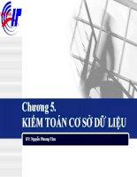 Bài giảng môn an toàn cơ sở dữ liệu  chương 5   kiểm toán cơ sở dữ liệu