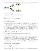 Giải bài 1,2,3,4 SGK Sinh 9 trang 50: Bài 16 ADN và bản chất của gen