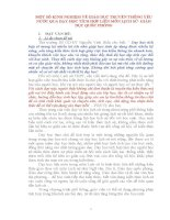 MỘT SỐ KINH NGHIỆM VỀ GIÁO DỤC TRUYỀN THỐNG YÊU NƯỚC QUA DẠY HỌC TÍCH HỢP LIÊN MÔN LỊCH SỬ- GIÁO DỤC QUỐC PHÒNG
