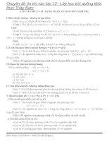 Chuyên đề 2: Các dạng toán về hàm số  đồ thị Ôn thi vào lớp 10