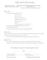 Tổng hợp các đề thi môn văn kỳ thi THPT quốc gia