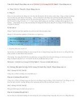 Giải bài 1,2,3,4 trang 36 SGK Sinh 8 : Hoạt động của cơ