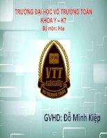Hóa vô cơ Tìm hiểu về phân nhóm VIB