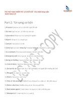 TOEIC Part 2 từ vựng cơ bản và những câu trả lời luôn đúng