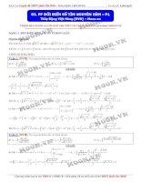 phương pháp đổi biến số tìm nguyên hàm