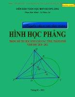 Tuyển chọn 1000 bài toán hay về hình học phẳng có lời giải hướng dẫn