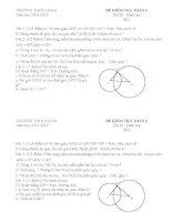 Đề kiểm tra hình học chương 2 toán 6 2 đề+ ma trận + đáp án biểu điểm