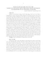 Báo cáo kết quả điều trị thay thế nghiện các CDTP bằng Methadone tại TP Tân An năm 2015