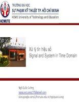 Bài giảng xử lý tín hiệu số  signal and system in time domain   ngô quốc cường
