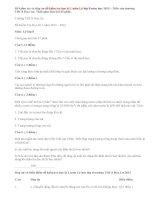 Đề kiểm tra học kì 1 môn Vật Lý lớp 8 trường THCS Hoa Lư có đáp án