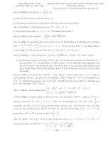 Đề 65 - Đề thi thử môn toán Quốc Gia (có đáp án) năm 2016