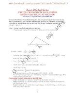Phương pháp giải hình học không gian trong kì thi đại học