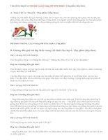 Giải bài 1,2,3,4 trang 102 SGK Sinh 6: Thụ phấn (tiếp theo)