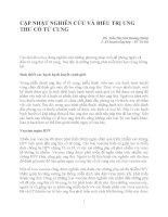 CẬP NHẬT NGHIÊN cứu và điều TRỊ UNG THƯ cổ tử CUNG
