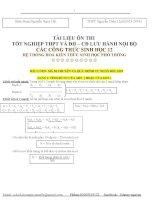 TÀI LIỆU ÔN THI  TỐT NGHIỆP THPT VÀ ĐH – CĐ LƯU HÀNH NỘI BỘ CÁC CÔNG THỨC SINH HỌC 12 HỆ THỐNG HOÁ KIẾN THỨC SINH HỌC PHỔ THÔNG