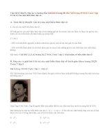 Giải bài 6,7,8 ,9 trang 28,29 SGK Toán 7 tập 2: Giá trị của một biểu thức đại số