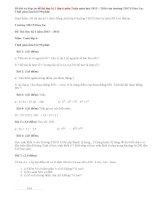 Đề thi học kì 1 và đáp án môn Toán lớp 6 trường THCS Hoa Lư
