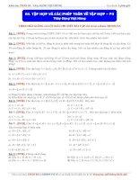 Tập hợp và các phép toán về tập hợp (phần 3)