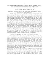 HỆ THỐNG ĐÀO TẠO THEO TÍN CHỈ MỸ VÀ NHỮNG GỢI Ý CHO CẢI CÁCH GIÁO DỤC ĐẠI HỌC VIỆT NAM