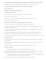 Cấu trúc kiểm tra tiếng anh lớp 6,7,8,9 giữa kì 2 chương trình 7,10 năm 2015-2016