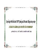 Tuyển tập 98 đề thi thử THPT Quốc gia 2016 môn Tiếng Anh cực hay có đáp án và bình luận chi tiết của Tuyensinh247 (Phần 3)