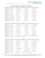 Bài tập ngữ âm Tiếng Anh thi đại học