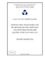Đánh Giá Thực Trạng HTQLCL ISO Để Chuẩn Bị Cho Việc Triển Khai Tái Chứng Nhận ISO 9001:2008
