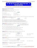 Moon vn    Tập hợp và các phép toán về tập hợp (phần 2)